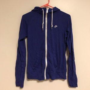 Royal Purple Nike Zip Up Sweatshirt
